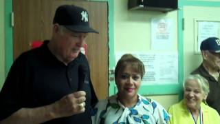 Baseball Legend Lindy McDaniel Visited James Monroe Senior Center 2