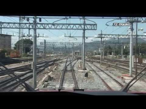 TG HS 05 FS Cab Ride Firenze to Rome over high-speed line