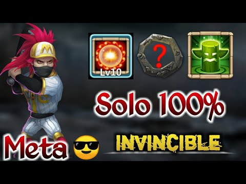 Ronin | New Meta😲😲 | 10/10 Scorch | Solo 100% Against Good Defence | Insane | Castle Clash