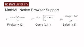 Accessible Math on the Web: Part 2, The Simple Way with MathML and HTML5