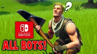 WHEN PEOPLE SAY ALL NINTENDO FORTNITE PLAYERS ARE BOTS!! - Fortnite BR Gameplay