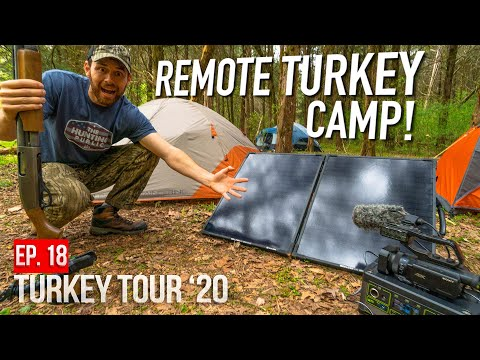 SOLAR POWERED TURKEY CAMP! - Tennessee PUBLIC LAND Hunting!