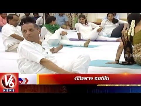9 PM Headlines | Prof Jayashankar Anniversary | JAC Spoorthy Yatra | Yoga Diwas | Loan Waiver | V6