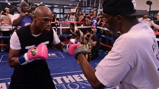 Download Floyd Mayweather Complete Mitt Workout UNEDITED Mp3 and Videos