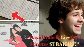 David Dobrik Lies for 5 minutes straight (VERY FUNNY)