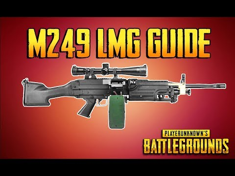 PLAYERUNKNOWN'S BATTLEGROUNDS M249 LMG GUIDE! Training Grounds Episode 7!
