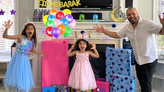 Happy Eid Surprise Toys opening with Sally