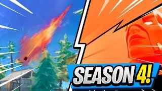 Battle Pass SKIN REVEALED! | METEOR Hits the MAP! ( Season 4 Fortnite Update )
