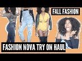 FASHION NOVA TRY ON HAUL | SUMMER TO FALL FASHION | CURVY GIRL FASHION