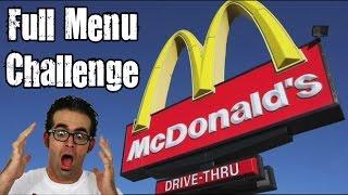 McDonald's Full Menu Challenge *Vomit Alert*