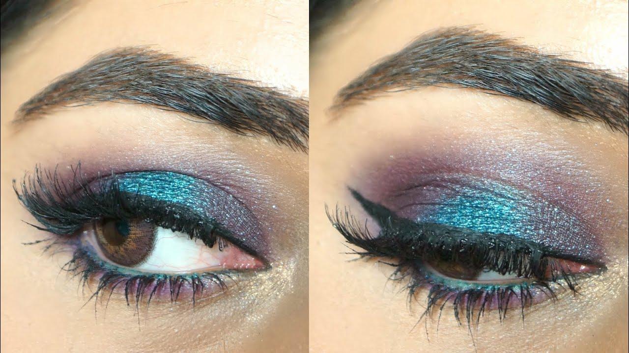 Makeup Tutorial Blue Purple Eyes Corallista Youtube