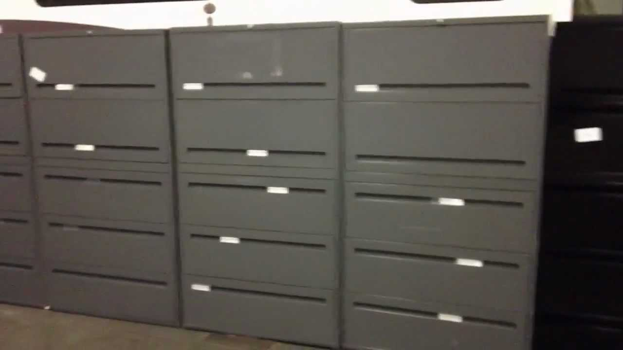 5 drawer file cabinets - Teknion 604-200-7961 - YouTube