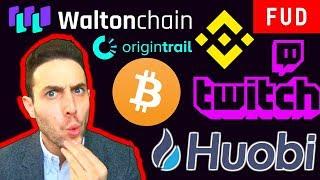 ALL ICOs ARE SECURITIES? $100 M Huobi Blockchain! Binance Fiat Crypto Pairs | BTC WTC TRAC GVT