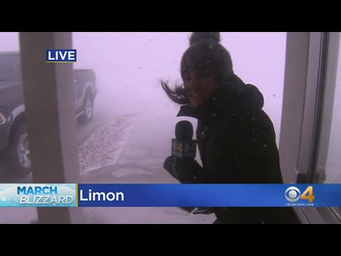 "Colorado Reporter Braves ""Bomb Cyclone"" Winds"