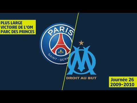 Plus large victoire du l'OM face au PSG au Parc des Princes - 2009/2010 - Ligue 1 Legends