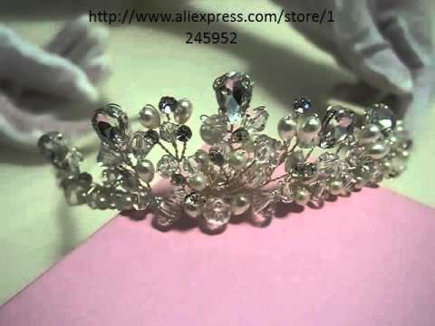 Handmade Wedding Tiara Headband Crystal Heart Love Flower Head Piece Bride Vintage Bridal Headpieces