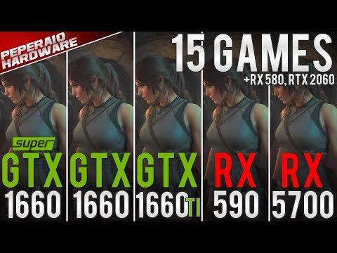Comparativo - GTX 1660 Super Vs RX 590, GTX 1660, GTX 1660 Ti, RTX 2060, RX 5700 (1080p & 1440p)