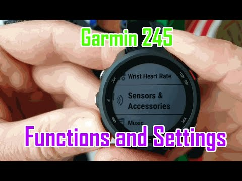 Garmin 245 Functions and Settings [Navi Spo2 Vo2] Test Review!