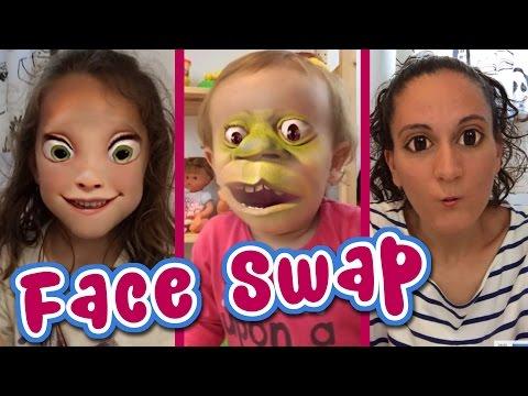 Cambiamos caras en Face Swap Live! Andrea, Irene y Raquel en SUPERDivertilandia!