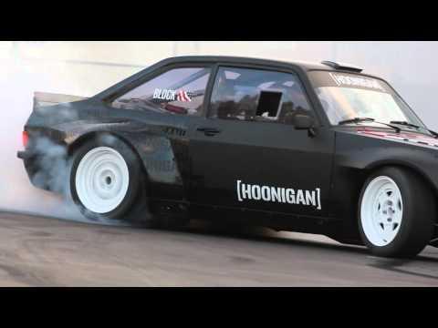 [HOONIGAN] Ken Block Slays Tires in the Gymkhana Escort at the Donut Garage