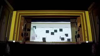 TehoFest 2019 - finał: mapping w wykonaniu Project[OR] Group prezentujący obiekty Szlaku TeH2O