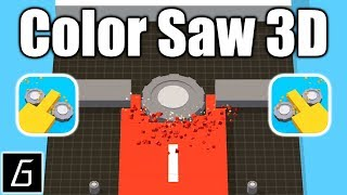 Color Saw 3D Gameplay - First Levels 1 - 10 (iOS - Android)