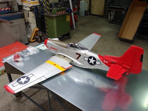 FMS GIANT P-51D MUSTANG 1700mm RED EPO 6S PNP Unboxing
