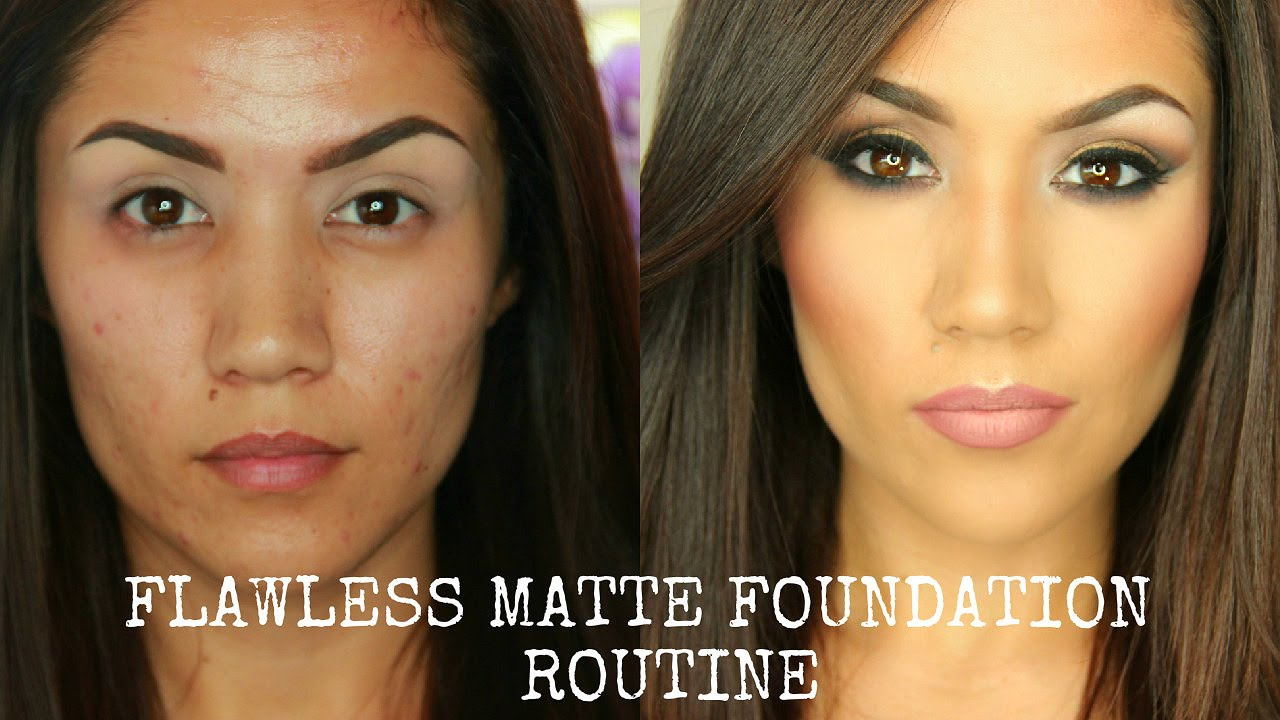 Flawless Full Coverage Matte Foundation Tutorial I Oily