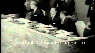 Alex Quaison-Sackey elected United Nations president 1964 newsreel