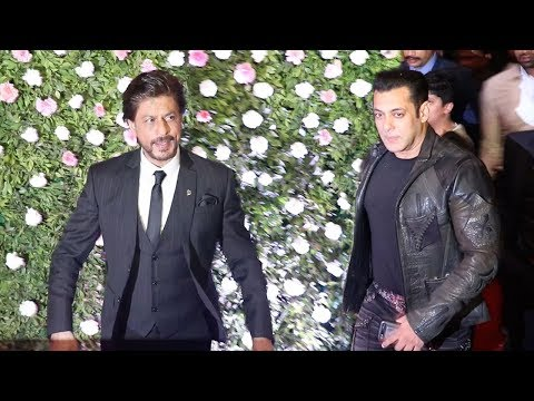 Salman Khan's MACH0 ENTRY In Front Of Shahrukh Khan At Raj Thackray's Son Amit's WEDDING Reception