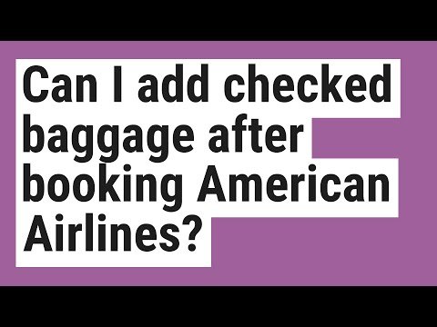Can I Add Checked Baggage After Booking American Airlines?