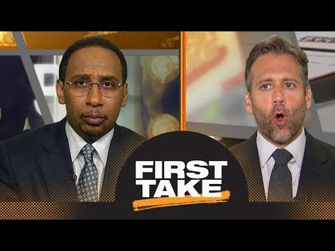 Stephen A., Max argue Rockets\' adding Carmelo Anthony improves odds vs. Warriors | First Take | ESPN