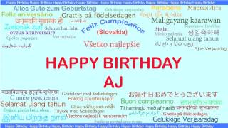 AJ   Languages Idiomas - Happy Birthday
