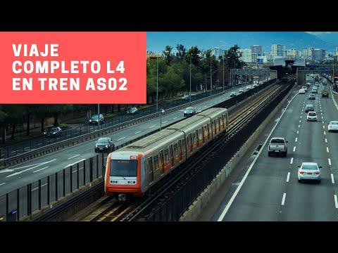 Metro de Santiago | Viaje completo L4 Plaza de Puente Alto - Tobalaba en un Alstom AS-02