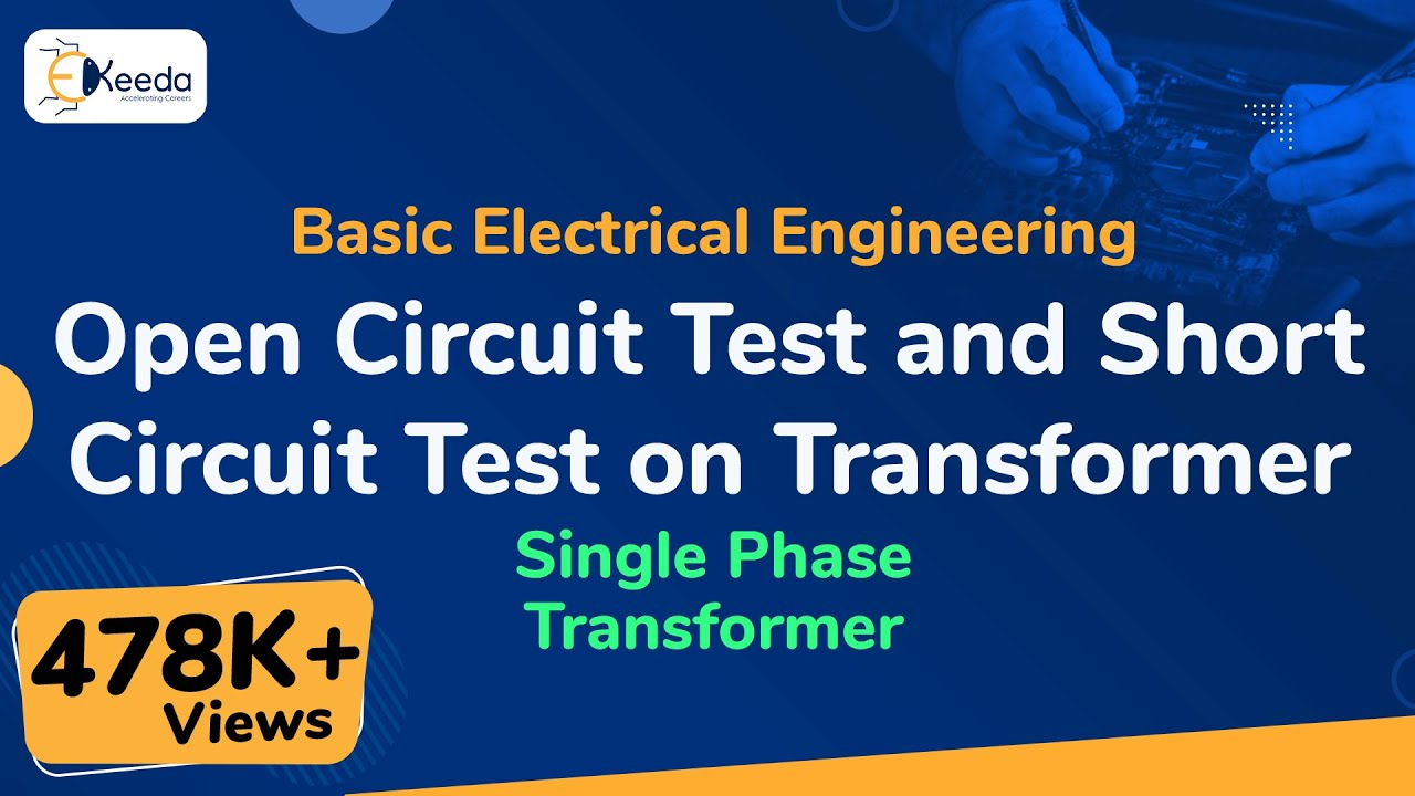 Open Circuit Test And Short On Transformer Single Shortcircuit Measurement Of The Coil Measuringandtest Singlephasetransformer Basicelectricalengineering Beevideolectures
