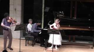 Trio movement for violin, viola and piano, composed by Alma Deutscher, 2014