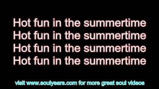Sly & the Family Stone - Hot Fun in the Summertime (with lyrics)
