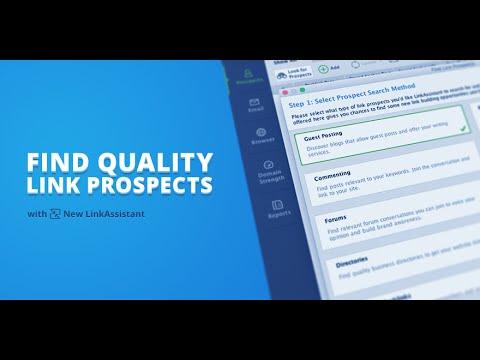 Smart Backink Prospecting in LinkAssistant
