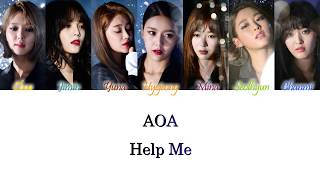 AOA (에이오에이) - Help Me (너 때문에) Han/Rom/Eng Color Coded Lyrics