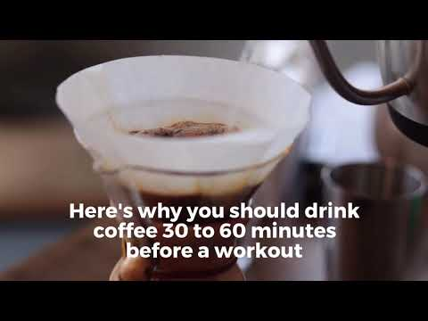 Should you drink coffee before working out?
