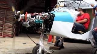 ICP SAVANNAH S Rotax 912 - first engine run / Rotax 912 - primeiro acionamento.