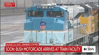 George H.W. Bush full Houston funeral and coverage of funeral train en route to College Station, TX