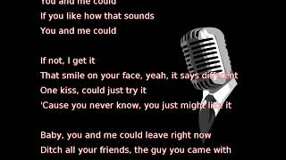 Thomas Rhett Leave Right Now lyrics