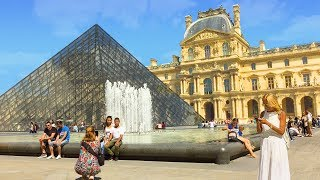 PARIS WALK | The Louvre incl. Pyramid and Palace Courtyards | France