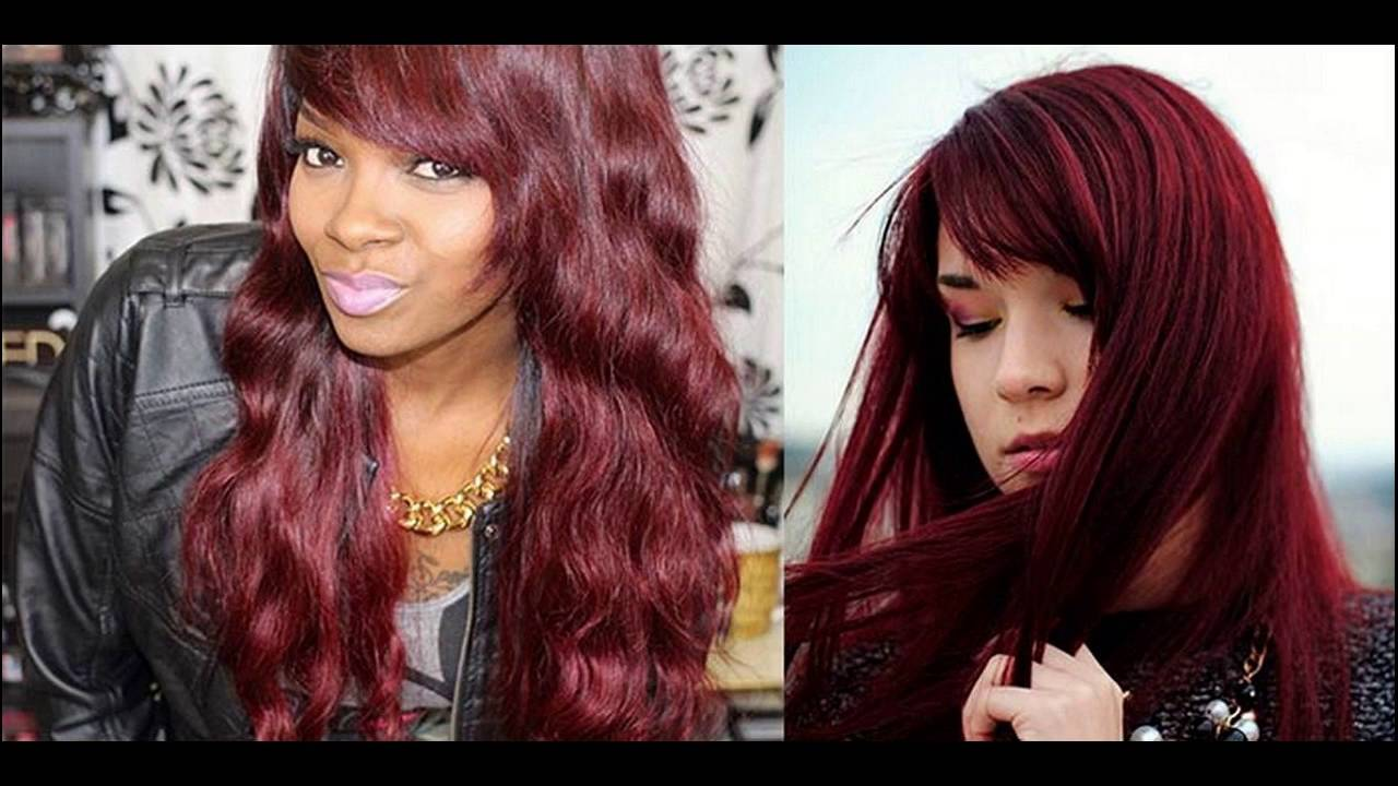 Chocolate Cherry Hair Color With Blonde Highlights Suggested Brands You