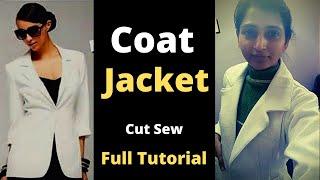 Coat, Blazer Cut Sew | Coat for Women | Coat Sewing | Jacket DIY - Notched Collars , Notched Lapels