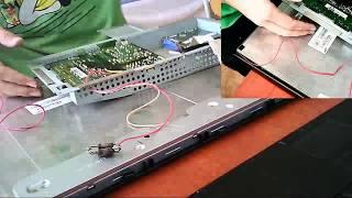 Dokončení opravy monitoru - LED podsvícení místo trubic - funguje to