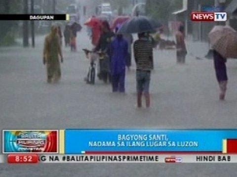 BP: Bagyong Santi, nadama sa ilang lugar sa Luzon