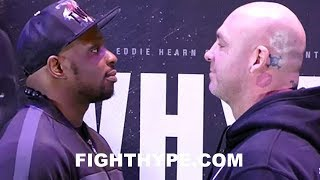 DILLIAN WHYTE AND LUCAS BROWNE COME FACE TO FACE AFTER WEEKS OF TRASH TALK