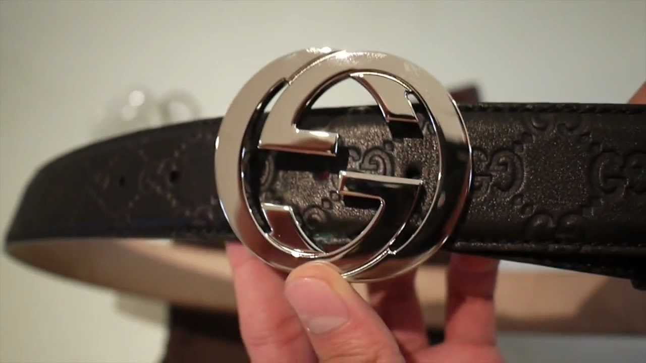 ef79c0002d6 Interlocking G Gucci Belt Review HD - YouTube